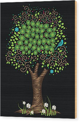 Enchanted Tree Wood Print by Serena King