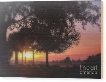 Enchanting Morning Sunrise Wood Print