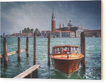Enchanting Venice Wood Print by Carol Japp