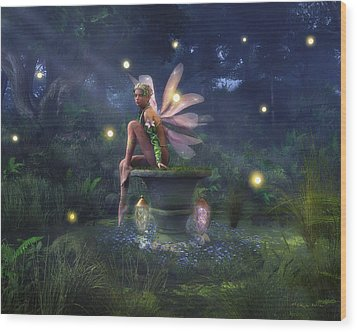 Enchantment - Fairy Dreams Wood Print by Melissa Krauss