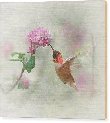 Wood Print featuring the photograph Enchantment In The Garden by Angie Vogel