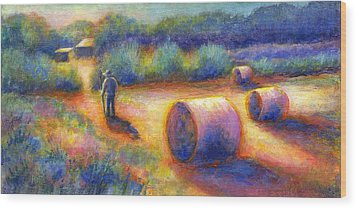 End Of A Well Spent Day Wood Print by Retta Stephenson