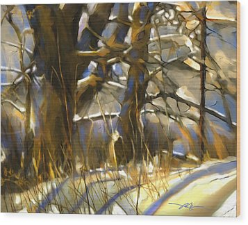 End Of A Winter's Day Wood Print by Bob Salo