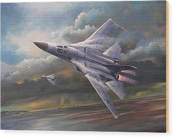 'end Of An Era' F111 Qld Final Flight Wood Print