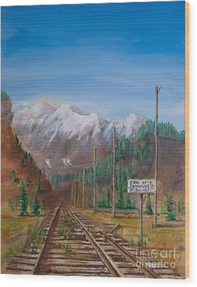End Of Standard Gauge Wood Print by Christopher