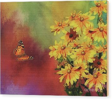 End Of Summer Wood Print by Suzanne Handel