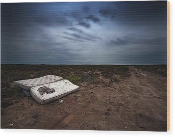Wood Print featuring the photograph End Of The Earth by Tim Nichols