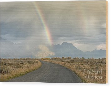 End Of The Rainbow Wood Print by Sandra Bronstein