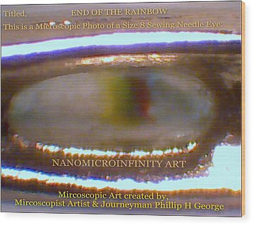 Wood Print featuring the painting End Of The Rainbow With Large Watermarking by Phillip H George