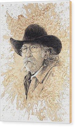 End Of The Ride Wood Print by Debra Jones