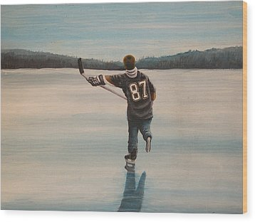 Endless Ice - Sid The Kid Wood Print by Ron  Genest