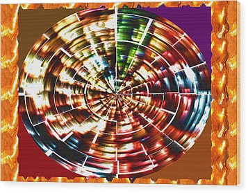 Energy Aura Cleaning Wheel In Motion Yoga Meditation Mandala By Navinjoshi At Fineartamerica.com Wood Print