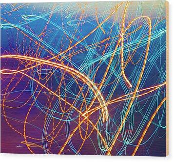 Energy Wood Print by Betsy Knapp