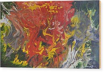 Energy Of Creation Wood Print by Georgeta  Blanaru