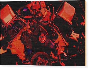 Engine 2 Wood Print by Lisa Johnston