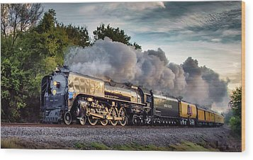 Engine 844 At The Dora Crossing Wood Print by James Barber
