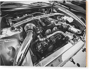 Engine Bay Wood Print