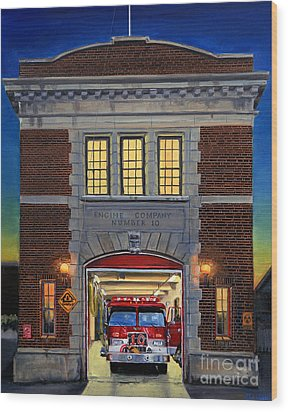 Engine Company 10 Wood Print by Paul Walsh