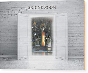 Engine Room Wood Print by Melissa Messick
