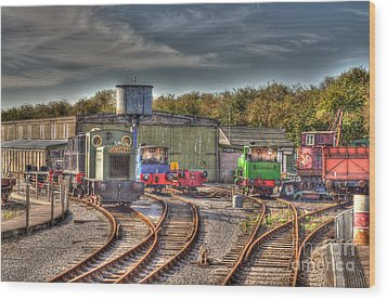 Engine Sheds Quainton Road Buckinghamshire Railway Wood Print by Chris Thaxter