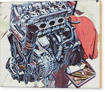 Engine  Wood Print