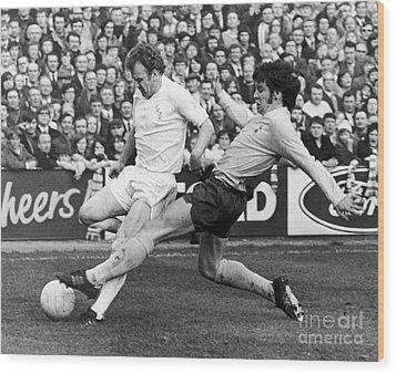 England: Soccer Match, 1972 Wood Print by Granger