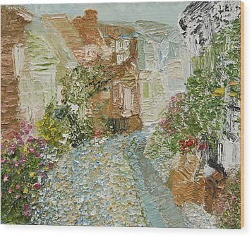 English Cobblestone Wood Print by Tara Leigh Rose