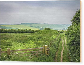 English Country Landscape 2 Wood Print by Wallaroo Images