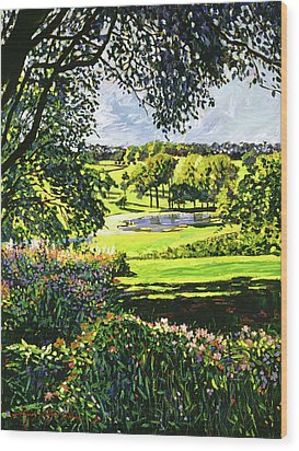 English Country Pond Wood Print by David Lloyd Glover