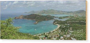 English Harbour Antigua Wood Print by John Edwards