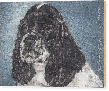 English Springer Spaniel Annie Wood Print by Melissa J Szymanski