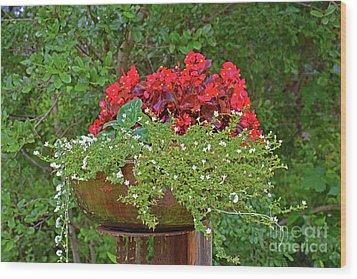Enjoy The Garden Wood Print by Ray Shrewsberry