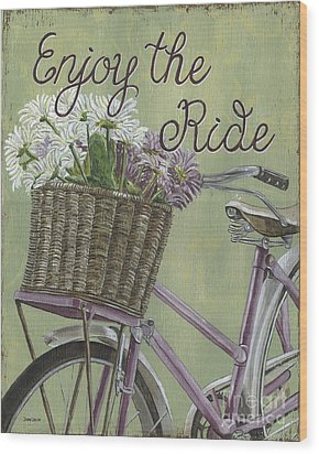 Enjoy The Ride Wood Print