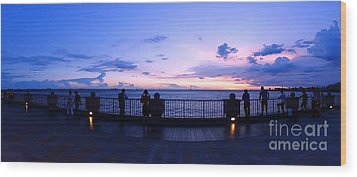 Wood Print featuring the photograph Enjoying The Beautiful Evening Sky by Yali Shi