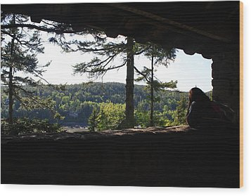 Wood Print featuring the photograph Enjoying The View II by Greg DeBeck