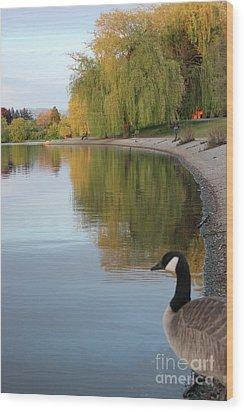 Enjoying The View Wood Print by Wilko Van de Kamp