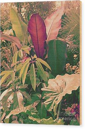 Enlightened Jungle Wood Print by Rebecca Harman