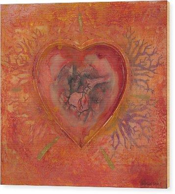 Enshrine - Outward Heart Wood Print