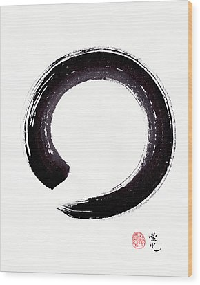 Enso - Embracing Imperfection Wood Print by Oiyee At Oystudio