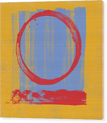 Wood Print featuring the painting Enso by Julie Niemela