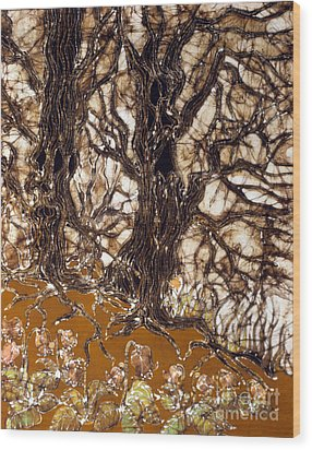 Ent Tree Forest Wood Print by Carol Law Conklin