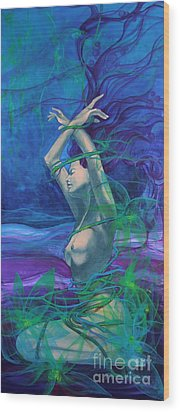 Entangled In Your Love... Wood Print by Dorina  Costras