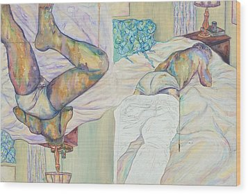 Enter Wood Print by Joseph Lawrence Vasile