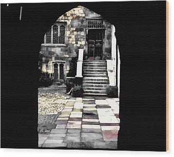 Enter London Wood Print by Jim Proctor