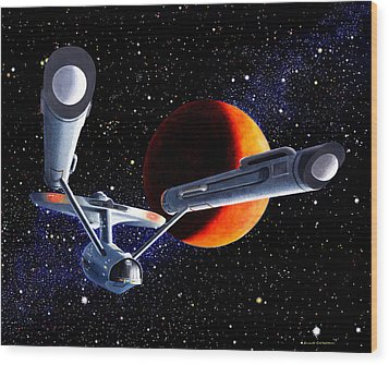 Enterprise Wood Print by Douglas Castleman