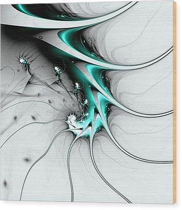 Wood Print featuring the digital art Entity by Anastasiya Malakhova