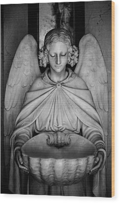 Entrance Angel Wood Print by Anthony Citro