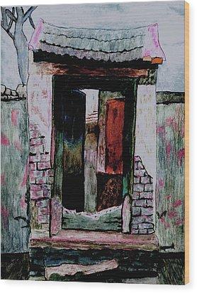 Entrance Gate Wood Print by Merton Allen