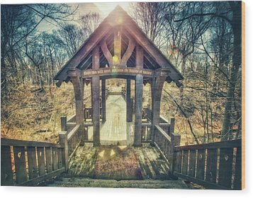 Wood Print featuring the photograph Entrance To 7 Bridges - Grant Park - South Milwaukee  by Jennifer Rondinelli Reilly - Fine Art Photography