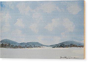 Entrance To Moulters Lagoon From Bathurst Harbour Wood Print